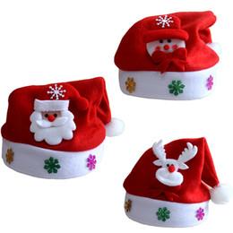 sombreros de alegría Rebajas Más gruesa Kid Cheer sombrero de dibujos animados de Navidad Niños Santa Claus reno muñeco de nieve fiesta lindos copos de nieve casquillo decoración de la boda