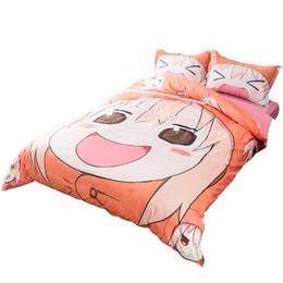 Wholesale Girls Comforters Sets - Smile Girl 3 or 4 Pieces Set Comforter Bedding Sets 3D Reactive Printing Beds Bed Sheet Set Duvet Cover Beddings set