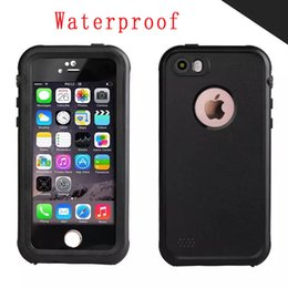 Wholesale Fingerprint For Pc - Redpepper Waterproof Hard PC TPU Phone Case Shockproof Underwater Fingerprint Hole For Iphone SE 5 5S 5TH Skin Cover Retail Package Luxury