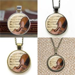 Wholesale Glass Violins - 10pcs Violin Musal Instrument Jewelry Lovers Pendant glass Necklace keyring bookmark cufflink earring bracelet
