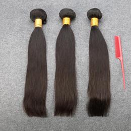 Wholesale Bleachable Virgin Brazilian Hair - Grade 7A Slovevip Brazilian Virgin Hair Straight Extensions Women Beauty Virgin Human Hair Weaves Dyeable Bleachable 3Bundles
