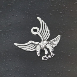 Wholesale Eagle Charm Antique - Come on Guys 150pcs eagle hawk Charms Pandora Antique Silver Alloy Jewelry Fit For Bracelet Pendant Necklace Man&Woman 20*20mm