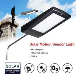 luzes de energia Desconto Nova 108 LEDs 2100LM Movido A Energia Solar Radar Sensor De Movimento Da Parede Luz Ao Ar Livre À Prova D 'Água Lâmpada De Poupança De Energia Rua Quintal Caminho Jardim