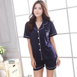 Wholesale Pajama Summer Women - plus size 100% Cotton summer casual pajamas for women, homewear, Sleepwear, Pajama Sets VD