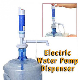 Wholesale Drink Dispensers - Wholesale- High-tech PVC Plastic Electric Dispenser Water Dispenser Convenient Drinking Water Pump For Bottle Water Pump