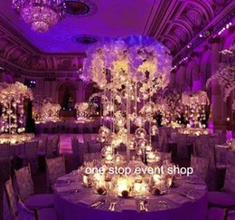 Wholesale Tall Crystal Flower Stands - no including flowers)large and tall wholesale beaded tall candle holder, crystal flower stand, wedding centerpieces