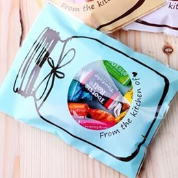 Wholesale Food Recycling Bags - 100pcs set Party Decoration Candy Bag Lovely Bottle Pattern Self-adhesive Cookies Bag Wedding Christmas Halloween 7x10cm Top Quality