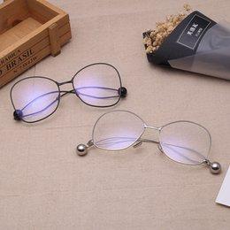 Wholesale Glasses Transparent For Men - Fashion Designer Sunglasses Newest Popular Eyeglasses Transparent Lens Alloy Computer glasses Optical Eye glasses Frame for Women Men JINNNN