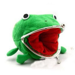 Wholesale Naruto Coin Wallets - Naruto Frog Shape Convenient Money Bags Casual Cute Wallet For Women Girl Coin Purse Animal
