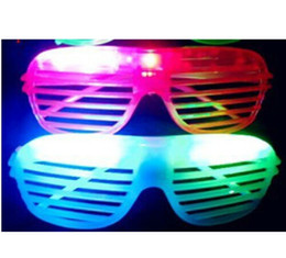 10Pcs lot Hot Sale Flashing Party LED Light Glasses for christmas Birthday Halloween Party Decoration Supplies Glow Glasses Coupons
