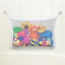 Wholesale Bath Wall Storage - Wholesale- HOT Baby Toy Mesh Storage Bag Bath Bathtub Doll Organizer Suction Bathroom Stuff Net 11742 91MC