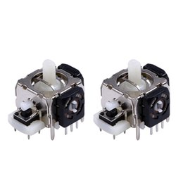 Wholesale Xbox For Parts - Wholesale- 2Pcs 3D Analog Joystick Game Controller Gampad Joypad Part Component Repair Analogs Replacement for Xbox 360 Wireless Controller