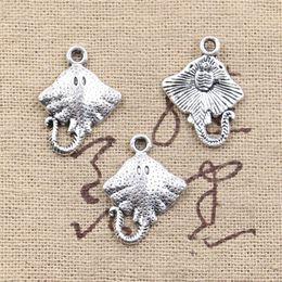 Stachelrochen online-120pcs Charms Stingray Fisch 21 * 13mm Antique Making Anhänger passen, Vintage tibetischen Silber, DIY Armband Halskette