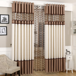 Discount discount-discount - High quality stitching nest embroidery yarns blackout curtains bedroom finished curtain fabric living room curtain bedroom curtains
