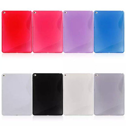 Wholesale Ipad S Line - S line TPU Soft Case For Apple Ipad air2 Colorful Rubber Gel Back Cover Skin