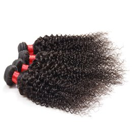Wholesale Cheap Afro Hair Extensions - 4 bundles 7a malaysian afro kinky human hair weave wholesale online malaysian curly bundles cheap curly weave human hair extension remy