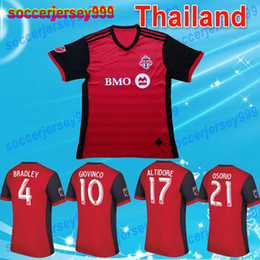Wholesale Homes Toronto - 2017 Toronto FC Soccer jerseys Adult men home red Thailand quality BRADLEY GIOVINCO OSORIO ALTIDORE 17 18 MLS football shirts uniforms