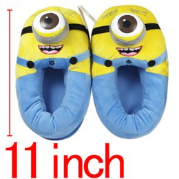 Wholesale Despicable Soft Toys - Wholesale-Anime Minion Despicable Me Cotton Slippers 3D Eyes Kevin Home Soft Plush Warm Winter Slippers Cosplay Indoor Shoes Stuffed Toys