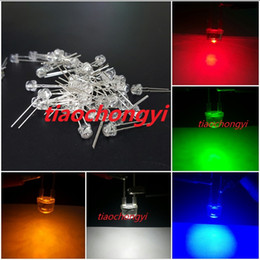 Wholesale Led 5mm White Wide Angle - Free shipping 2pin 5mm 0.25W Wide Angle Bright High Power LED (Red Green Blue Yellow White pink UV)