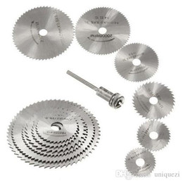 Wholesale Circular Cut - Cutting Discs Mandrel HSS Rotary Circular Saw Blades Tool For Dremel Cutoff 7PCS