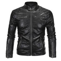 Wholesale Men S Real Leather Jacket - Wholesale- 2017 New Arrivals David Beckham Same Stye Real Leather Jacket Big Size 5XL Men Vintage Fashion Motorcycle Jacket A3079