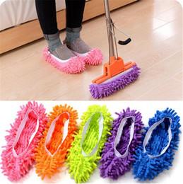 Mop pantoffeln sauber online-Staub-Reiniger, der Pantoffel-Haus-Badezimmer-Boden-Reinigungs-Mopp-Stoff-saubere Pantoffel-Mikrofaser-faule Schuh-Abdeckung bedecken lässt