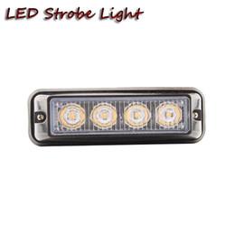 Wholesale Led Automotive Strip - Free shipping 2pcs4W led strobe light Automotive motorcycle truck industry equipments farm Car Emergency Beacon mini Light Bar