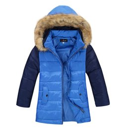 Wholesale Yellow Down Jacket Kids - High Quality Boys Thick Down Jacket 2016 Winter New Children Warm Detachable Cap Coat Clothing Kids Hooded Down Outerwear