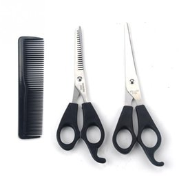 Wholesale Hair Dressing Scissors Set - Professional Hair Dressing Scissors 3pcs Barber Tool Hair Scissor Comb Set Cutting Thinning Hairdressing Shears