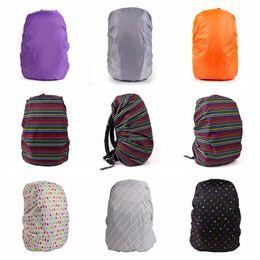 Wholesale Rain Cover Backpack - 33 Colors Practical Waterproof Dust Rain Cover For Travel Camping Backpack Rucksack Bag Outdoor Luggage Bag Raincoats 500pcs LJJO2976