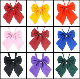 Wholesale Sexy Tie Uniforms - 9color Japaness JK kawaii Girls Soild Uniform Tie Women Anime Custom Clothes Cosplay prop
