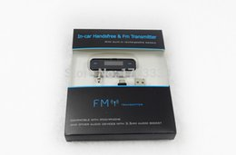 armaturenbrettsystem Rabatt Car Kit 3,5 mm Mini Wireless FM Transmitter Kfz-Ladegerät für iPhone 4 5 6 iPad iPod für HTC Samsung Galaxy S Mp3 mit Audio-Buchse