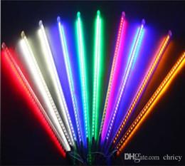 2019 conjunto de luz de tubo 80 cm 10 Unids / set Nevadas LED Tira de Luz Navidad Lluvia Lluvia de Meteoros Lluvia Lluvia Tubos de Luz LED 100-240V UE / EE. UU. Enchufe 5050 72LED rebajas conjunto de luz de tubo