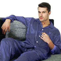 al por mayor conjuntos de ropa de salón Rebajas Wholesale-Perfect Gifts_ Conjunto de pijama de seda para hombre Conjunto pijama de pijama Conjunto de pijama PJS Loungewear U.S, S, M, L, XL, XXL, 3XL Plus_3 colores
