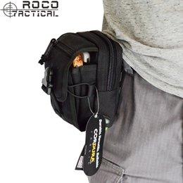 "Wholesale Molle Backpack Cordura - bag ROCOTACTICAL M1 Molle Tactical Bags Multifunctional Army Compat Waist Packs 5.5"" Molle Phone Bags Cordura Nylon Black TAN"