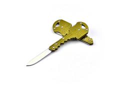 Wholesale Knife Key Rings - SOG Portable Key Knife Foldable Key Chain Pocket Knives Mini Camping Key Ring Knife Multifunction 3 Colors F182L