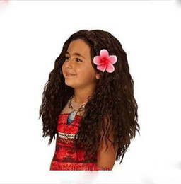 Wholesale Accessories Curly Hair - 50-55cm princess Cosplay Wig Hair Accessories kids curly wave cosplay wig long curly for Halloween and Christmas C2609