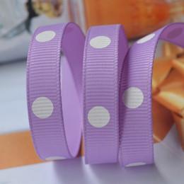 Wholesale Diy Handmade Packaging Materials - 15% 0ff! 200yards,3 8 inch Polka Dots Printed Grosgrain Ribbon 2 style,Gift packaging, wedding decoration, DIY handmade materials 60 colors
