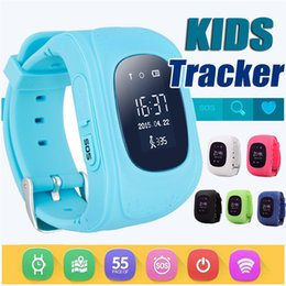 Wholesale Gps Tracker Lcd - Q50 Kids Smart Watches SOS LCD GPS Tracker Safety Anti-lost Smart watch for IOS Android LBS Location smartwatch