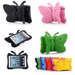 Wholesale Tablets Bundles For Sale - 2016 Hot Sale Kids Light Weight Lovely Butterfly Tablet EVA Shockproof Handle Bag Case For iPad Mini 3 2 1 Protective Skin Shell