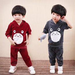 Wholesale Children Velour Pant Suits - Children Clothing 2017 Autumn Winter Boys Clothes Hoodies+Pants 2pcs Outfit Christmas hallowmas Costume Kids Boys Sport Suit