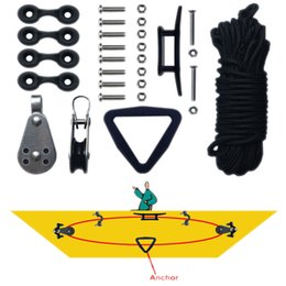 Wholesale Kayaks Wholesale - Hot New Wholesale Kayak Canoe Anchor Trolley Kit System Pulley Cleat Pad eye Ring Ropes XT ML1592