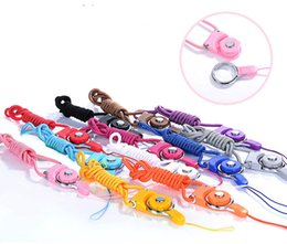 Wholesale Cell Flash Cards - Universal Rotatable Neck Strap Detachable Key Chain Ring Lanyard Hanging Charming Charms For Cell Phone MP3 MP4 Flash Drives ID Cards
