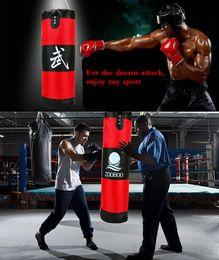 Wholesale Fitness Hooks - Wholesale-Genuine ZOOBOO 70cm sandbag EMPTY Training Fitness MMA Boxing Bag Hook Hanging Kick Fight Bag Sand Punch Punching Bag Sandbag