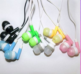 Wholesale Headphone For One Ear - The lowest price 3.5mm in-ear headphones headsets earphones for iphone 5 6 samsung galaxy HTC ONE XIAOMI for ipad mp3 mp4