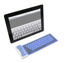 Wholesale Wireless Silicone Bluetooth Keyboard - fashion Waterproof Universal Portable Bluetooth Wireless Soft Silicone Keyboard for ipad iphone Samsung Smart mobile phone