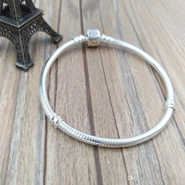 Wholesale Sterling Silver European Style Beads - Authentic 925 Sterling Silver Stirling Silver Bracelet Fits European Pandora Style Jewelry Charms Beads 590702HV