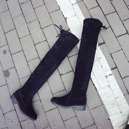 Wholesale Super Hot Platform High Heels - 2017 New Hot Fashion Sexy Ladie Platform Boots Women Knee High Boots Winter Women Shoes Fur Super Warm Snow Boots Over The Knee