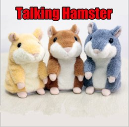 Wholesale Hamster Cat - 2017 Talking Hamster Mouse Pet Plush Toy Hot Cute Speak Talking Sound Record Hamster Educational Toy for Children Gift