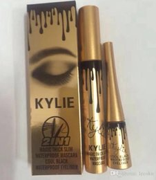 Wholesale Eyelash Extension Eyeliner - kylie jenner cosmetics Makeup 3D Fiber EyeLashes Extension Mascara+ Gel Eyeliner 2 in 1 Sets Waterproof Free Shipping